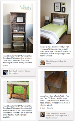 Custom Projects Pinterest Style